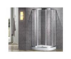 Paroi d'angle de douche avec receveur MILOA - 80 x 80cm - Installations salles de bain