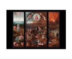 Jérôme Bosch Papier Peint Photo/Poster Autocollant - Le Jugement Dernier, Triptyque, Vers 1482 (120x180 cm) - Décoration murale