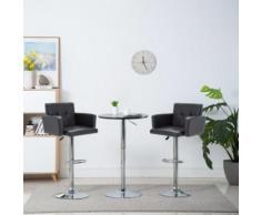 Meelady Tabourets de Bar Chaise de Bar Pivotante pour Maison, Bureau et Salon 2 pcs Similicuir 61 x 54 x 112 cm Noir - Chaise