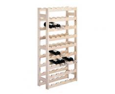 Zeller 13165 étagère à bouteilles en pin 67,5 x 25 x 118 cm - Ustensiles