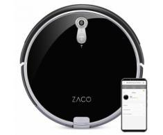 Robot aspirateur laveur A8s noir glossy - ZACO -fonction serpillère pour sols durs - Aspirateur robot