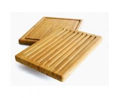 Zeller 25247 planche à découper multifonction en bambou 38,5 x 30 x 3 cm - Ustensile de cuisine