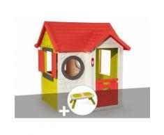 Cabane enfant My House - Smoby + Banc - Maisons de jardin