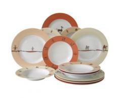 CREATABLE 10815 SERVICE DE TABLE NATURE 12 PIÈCES - vaisselle