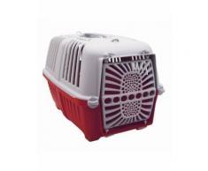 Panier arriere plastic bellelli colori rouge-gris pour chien fixation porte bagage - poids maxi : 15kgs - Pièces détachées de vélo