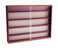 Watsons - REVEAL - Vitrine Collectionneur murale 4 etageres - finition acajou - Vitrines