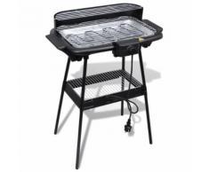 Barbecue Electrique Grille Rectangulaire pour Jardin - Cuisiner en extérieur
