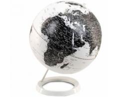 Décoration Globe Terrestre Noir et Blanc - Objet à poser