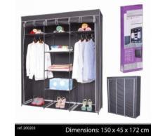 grande penderie étagere armoire de rangement pour vêtement, placard dressing de chambre portant en tissu - Rangement de l'atelier