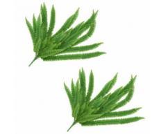 5 pcs Feuilles artificielles de bananier Vert 80 cm - Plantes artificielles