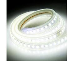 Eclairage LED Guirlande/Décoration LED Bande lumineuse imperméable à l eau de LED de boîtier, longueur: 1m, bande lumineuse d IP65 SMD 5730 LED avec la prise de puissance, 120 LED / m, CA 220V (lumière blanche) - Luminaires extérieur