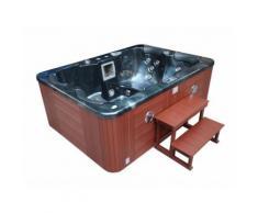 spa fidji 4 places - cuve gris - système balboa + station d'iphone intégré - 210x152x81 cm - Jacuzzi et sauna