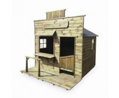 Maisonnette style saloon/western en bois FSC de 4,2m², Begonia - ranch en pin autoclave - Maisons de jardin
