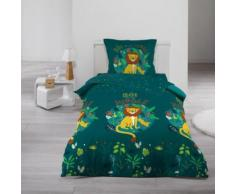 Parure de Drap + 1 taie d'oreiller Petit Lion Roi de la Jungle - Linge de lit
