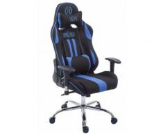 Fauteuil de bureau / Chaise Gaming Limit V2 en tissu - Couleur Noir/Bleu - Sièges et fauteuils de bureau