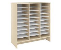 Meuble de rangement et de classement en bois de 30 cases. Dim: H114 X L105 X P47 cm. - Petit mobilier enfant