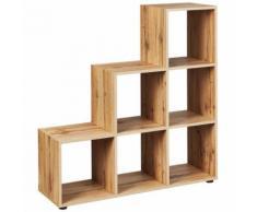 Dany - Etagère Escalier 6 Compartiments - Bibliothèques
