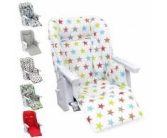 Housse d'assise pour chaise haute bébé enfant gamme Ptit - Ptit stars multicolore - Chaises hautes et réhausseurs