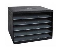 Exacompta ECOBlack Trieur Horizon 5 compartiments Noir - Armoires de bureau
