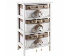 Aubry Gaspard - Commode enfant en bois blanc 3 tiroirs - Commodes et plans à langer