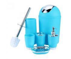 Accessoire salle de bains poubelle porte-savon distributeur gobelet porte-brosse à dents - Meubles de salle de bain