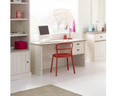Bureau couleur blanc et bois YUKA - L 138,6 x P 67,4 x H 75 cm - Bureaux enfant et accessoires