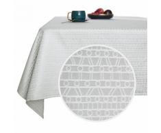 Deconovo Nappe Rectangulaire Imperméable Polyester à Motif Gris Clair 132x178 cm Nappe Salon de Jardin Nappe Table Salle à Manger - Linge de table