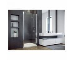 Porte de douche battante CIRKO II 80/90 x195 cm - Paroi porte battante: Largeur 80cm - Installations salles de bain