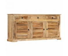 Armoire latérale 170x38x80 cm Bois de manguier solide - Petit mobilier enfant