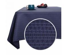 Deconovo Nappe Jardin Rectangulaire Imperméable à Motif Bleu Foncé 137x274 cm Nappe Table Salle à Manger Nappe Exterieur - Linge de table