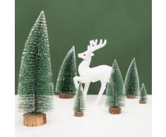 Table noël sapin pin noël mini neige arbres petits cadeaux décoratifs 25cm - Objet à poser