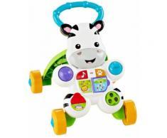 Fisher-Price Mon Trotteur Zèbre Parlant, pour bébé de 6 mois et plus, version allemande, DLD94 - Trotteurs