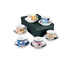 ZELLER MAGIC EYES / 26510 ENSEMBLE DE TASSES À EXPRESSO EN PORCELAINE 12 PIÈCES - Tasse et Mugs