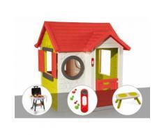 Cabane enfant My House - Smoby + Plancha + Sonnette + Banc - Maisons de jardin