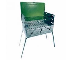 Barbecue pliable avec grille au charbon 40 x 30 x h72 cm pique-nique EG5645 - Cuisiner en extérieur