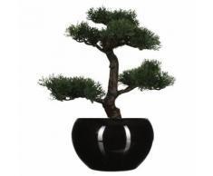 Bonsaï artificiel avec pot - H. 36 cm - Noir - Objet à poser