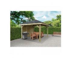 Solid Abri de Jardin Maisonnette Chalet Kiosk Combination 347x347 - Maisons de jardin