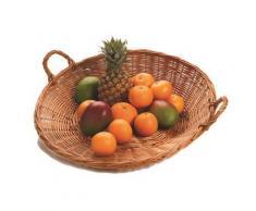 Corbeille à fruits en osier vernis D : 450x160 mm - Autres