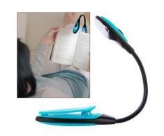 Lampe de lecture flexible LED pour livre, bricolage... - bleu - Ampoules à LEDs