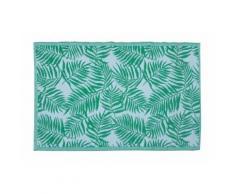 Tapis extérieur ou intérieur motif palmier PALMARIA - 100% Polypropylène - 140 x 200 cm - Vert - Tapis et paillasson