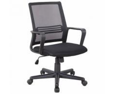 Fauteuil de bureau chaise de bureau 65L x 58l x 89-98H cm hauteur réglable pivotant 360° maille respirante noir - Sièges et fauteuils de bureau
