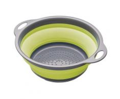 KITCHEN CRAFT COLOURWORKS PASSOIRE PLIABLE VERT 24 CM - Ustensile de cuisine