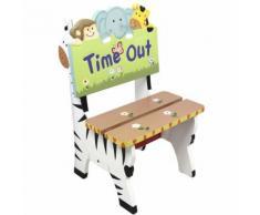 Chaise siège fauteuil banc animaux bois décor chambre enfant bébé mixte W-8270A - Petit mobilier enfant