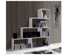 KLUM Etagere escalier blanc brillant 145x145cm - Objet à poser