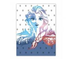 Disney Couverture polaire congelée 100 x 140 cm blanc/bleu - Linge de lit