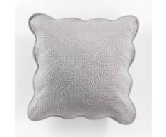 Housse de coussin +encart 45 x 45 cm microfibre unie melissa Gris - Linge de lit