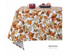 Deconovo Nappe Salle à Manger Cuisine Rectangle Nappes Rectangulaires Semi Imperméable à Motifs Jaune 130x280cm - Linge de table
