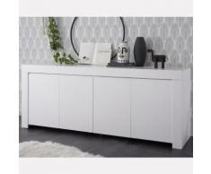 Enfilade 210 cm blanc laqué design AGATHE - Buffets