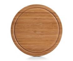 Zeller 25250 planche à découper ronde en bambou ø 30 x 2 cm - Ustensile de cuisine