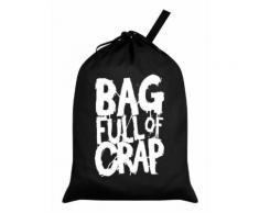 Sac à linge Bag Full Of Crap noir - Objet à poser